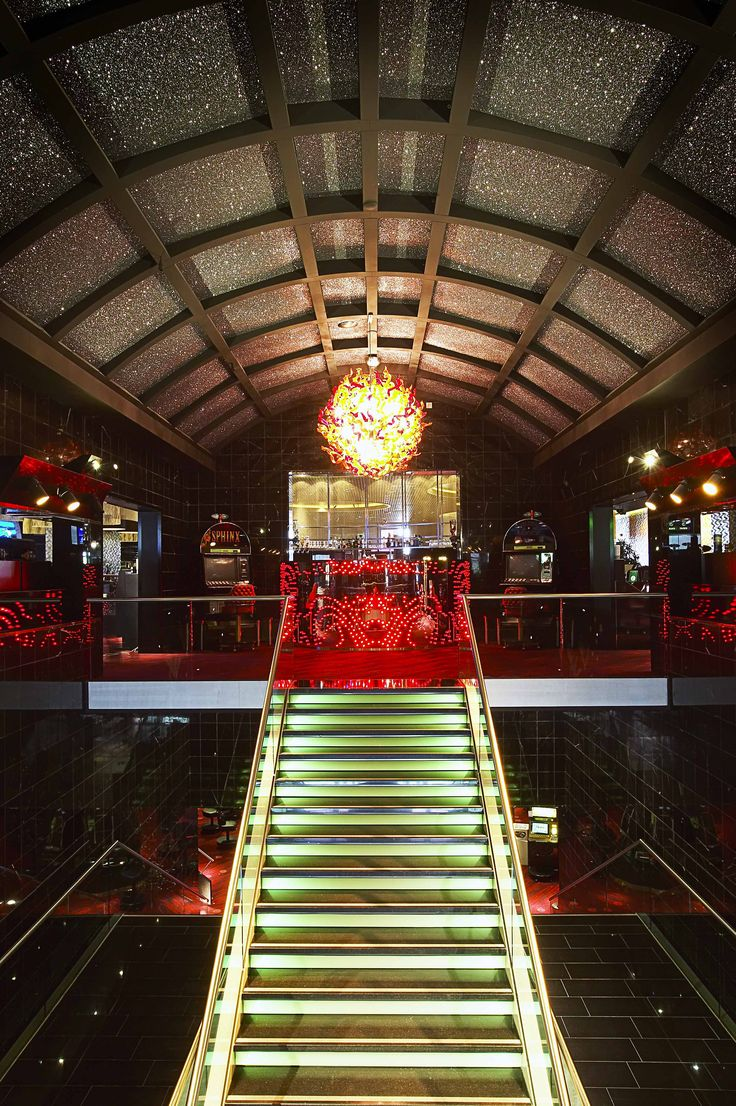 Groningen Holland Casino #nastro #chandelier #andromeda #murano #venice #glass #luxury #light #design #architecture with M+R interior architecture