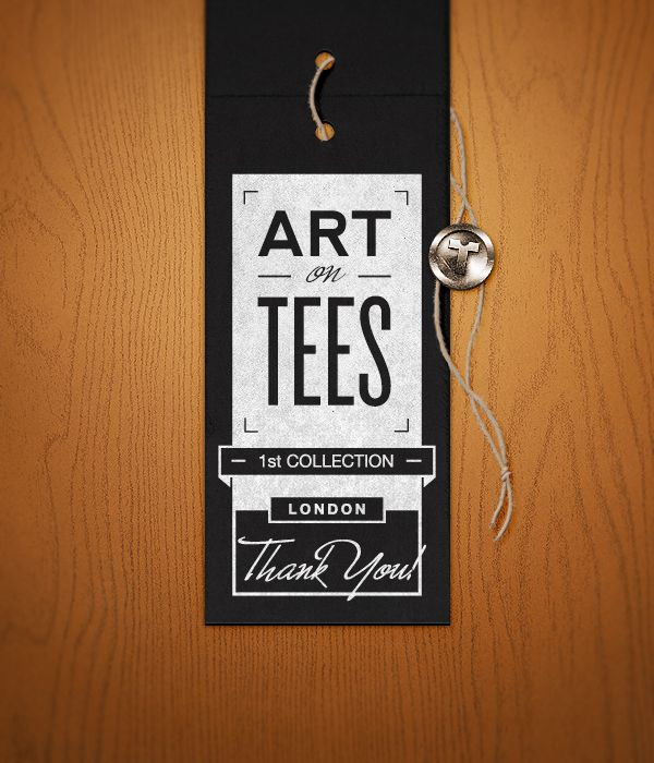 Hang tag Art on Tees