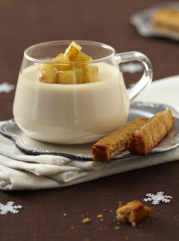 Une panna cotta très gourrmande à servir en dessert pour les fêtes de fin d'année.