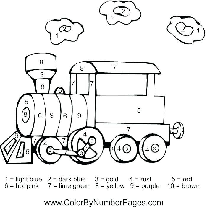 Train Pictures To Color Train Color By Number Page Color By Number Number Train Pictures To Color Tag1train Col Coloring Pages Colorful Pictures Train Pictures