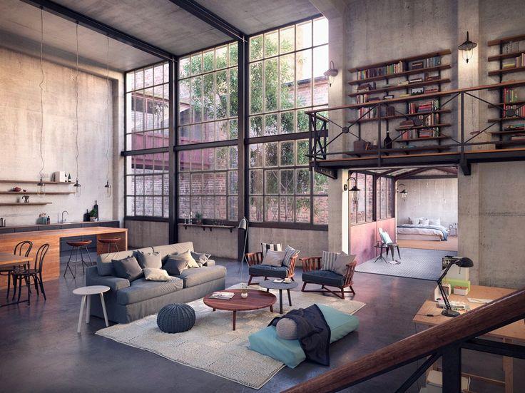 Pin Veredas Arquitetura --- www.veredas.arq.br --- Inspiração: Depois dos belas de decorações de filmes que vimos hoje mais cedo, agora veremos lofts como nos filmes. Pilastras L...