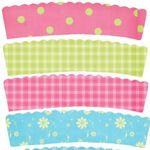 Lots of free cupcake wrapper templates
