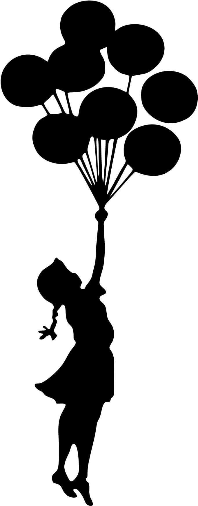 Banksy Flying Balloons Girl Graffiti Art Vinyl Car Window Laptop ...