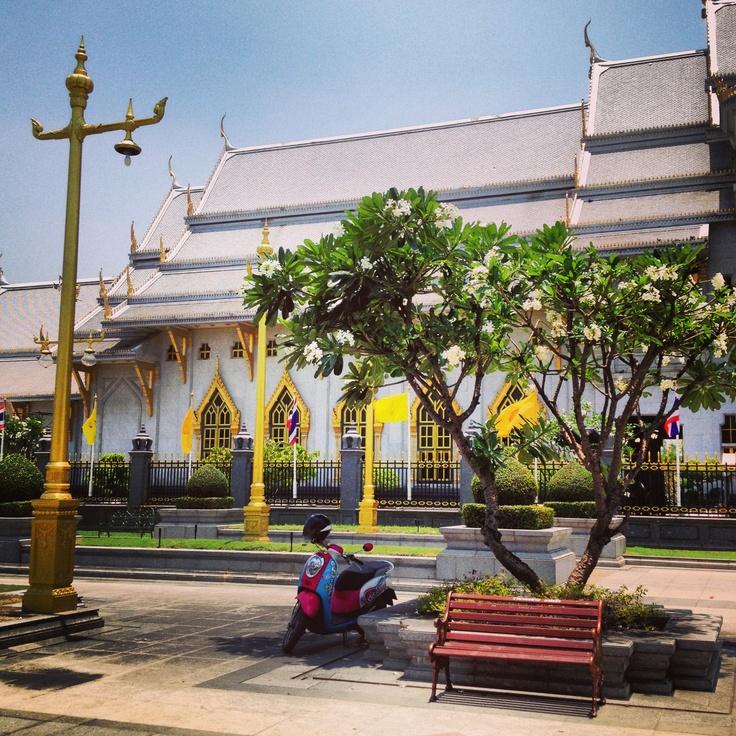walking around the garden, Wat Sothorn, Thailand