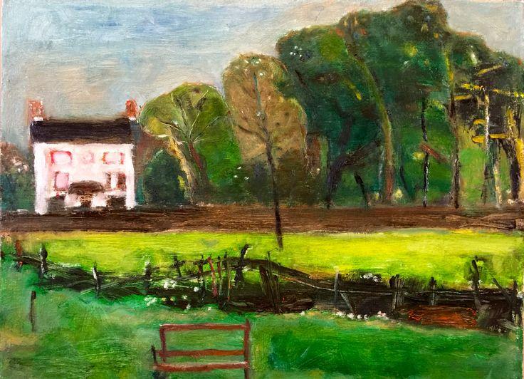 The farm house, oil on canvas