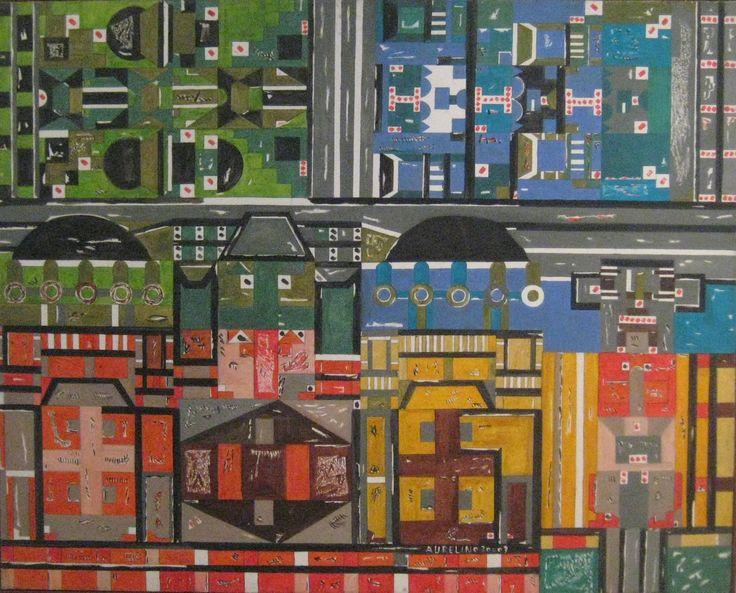 Aurelino dos Santos Sem título , 2009 Acrilica sobre tela 80 x 100 cm