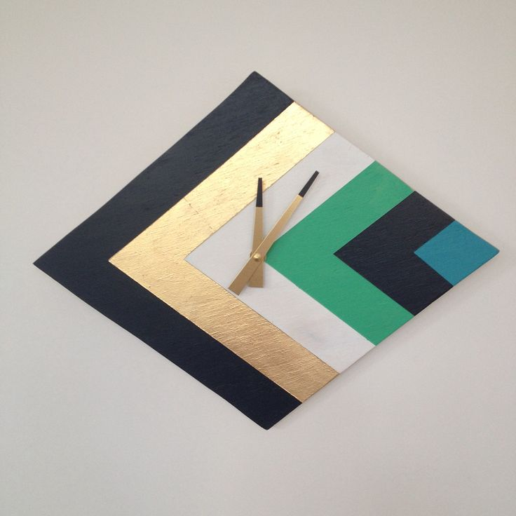 Diamond clock. Handcrafted from plywood