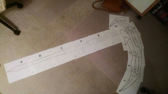 how to make a paper sword rwby