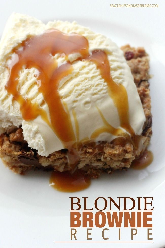 Blondie Brownie Recipe #recipe