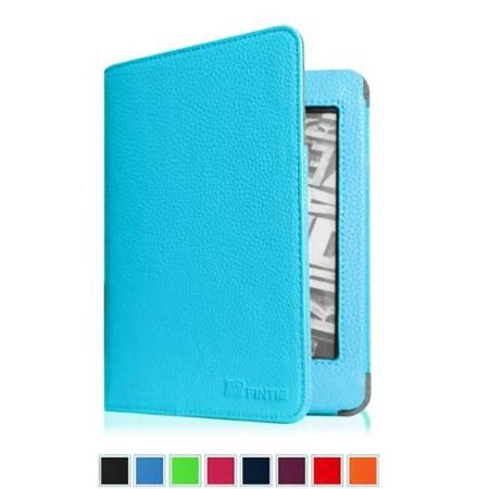 Fintie Folio Case for Kindle 7th Generation 2014 Model Slim Fit Protective Leather Cover, Blue