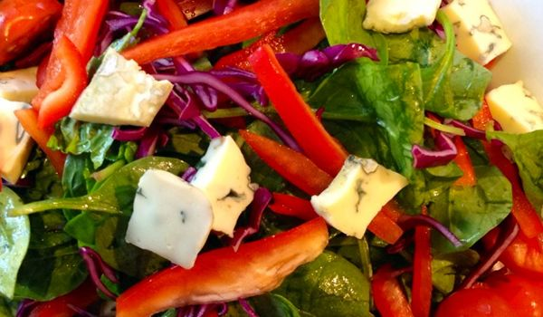 Super simple Tricolore salad with blue cheese and a honey balsamic dressing   News   Lorraine Pascale