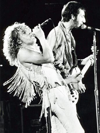 Roger Daltrey and Pete Townshend at Woodstock