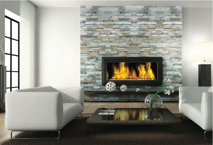 Greige (grey and beige) ledgestone with hints of purple and blue - perfect for fireplace surround and exterior finishes