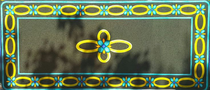 Tabletop, glazed lava handpainted by lavapreziosa.com