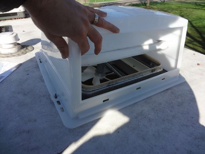 87 best images about diy windows camper on pinterest window screens rv mods and campers for How to replace rv bathroom vent cover