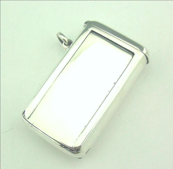 ANTIQUE VICTORIAN SOLID SILVER VESTA & BUS TICKET HOLDER #Birmingham