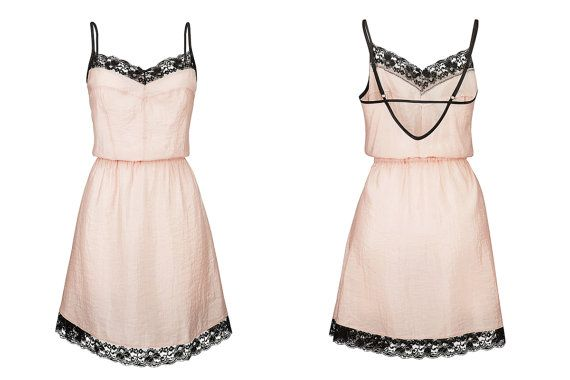 Lace nightgown in powder pink, a perfect Valentine's Day gift!