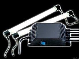 Reactancia Electronica EXOTERRA Los controladores pueden operar 2 luces fluorescentes que son capaces de crear un espectro completo.