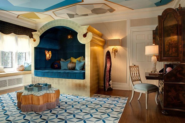 Mediterranean bedroom could well have jumped out of the pages of Aladdin [Design: SoCal Contractor]