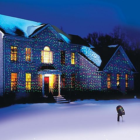 The Star Showers Laser Light with Motion lets you easily illuminate your home year round without risking climbing ladders to hang lights on your house. Place the Star Showers Laser Light on the lawn to illuminate your landscape and home in seconds.