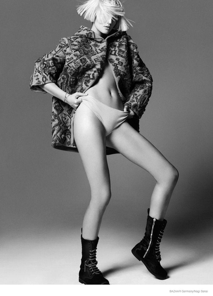 toni garrn fall fashion02 Toni Garrn Rocks Fall Style for Nagi Sakai Shoot in Harpers Bazaar Germany
