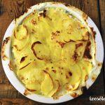 Tejszínes, spenótos rakott krumpli lazaccal