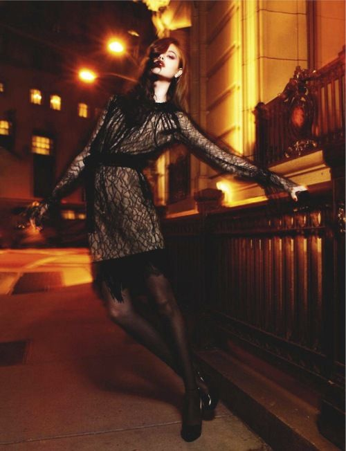 Night fashion photography.