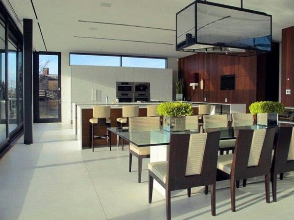 Dinning and Kitchen from Luxury Ocean House with Amazing Garden and Swimming Pool Ideas 600x450 Luxury Ocean House with Amazing Garden and Swimming Pool Ideas