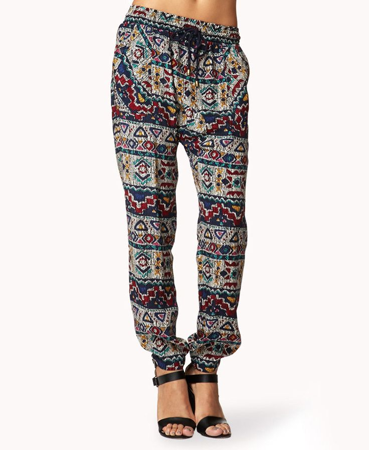 Tribal Print Harem Pants | FOREVER21 Where are all the harem lovers at? #Printed #Summer