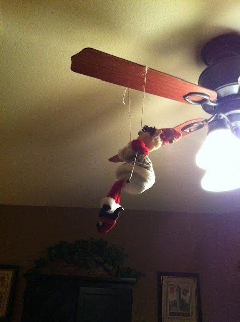 42 best ceiling fan dressed for christmas images on pinterest elf on the shelf goes for a swing on the ceiling fan mozeypictures Choice Image
