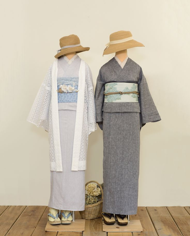◆ピンタック着物(フレンチリネン) | 着物、浴衣 さく研究所
