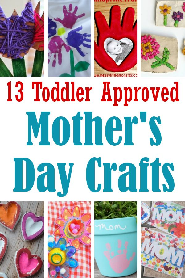 "Make Mother's Day extra special this year with these adorable handmade craft projects for little ones.         ""MOM"" Painting ( via - ..."