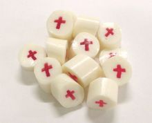 Pretty rock candies with pink crosses in them. Girls christening or baptism candy? Perfect.