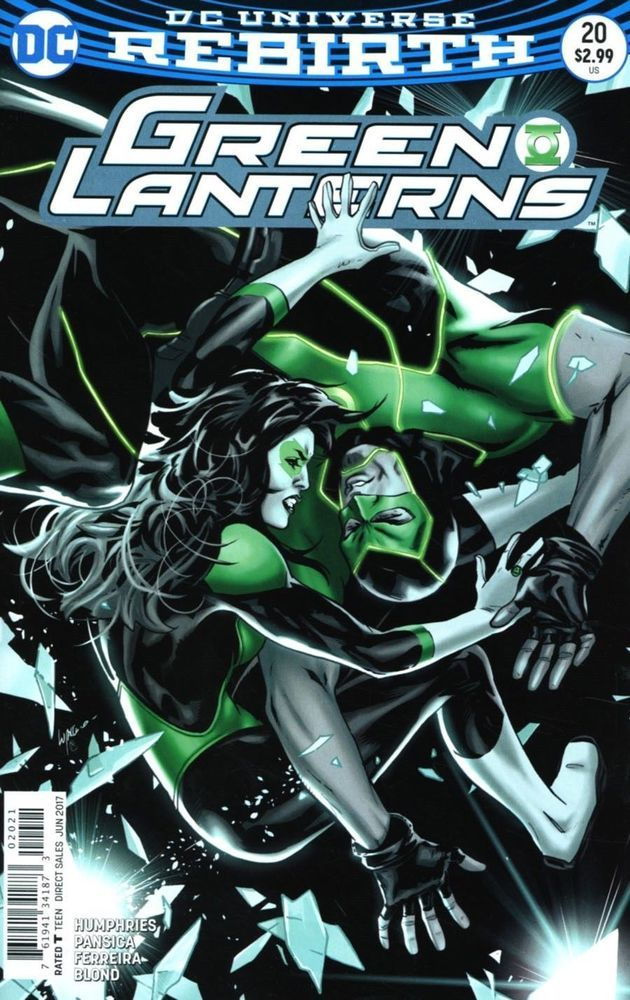 DC Green Lanterns Rebirth comic issue 20 Limited variant