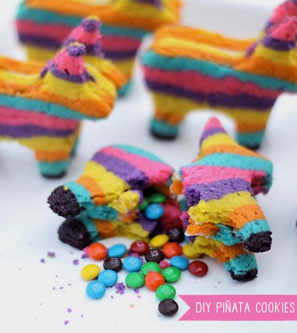 Pinata Cookies with m inside