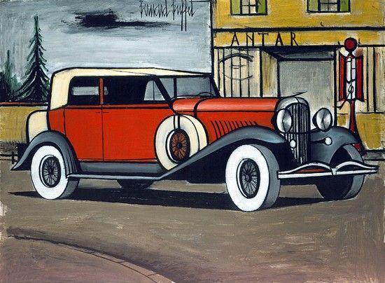 Bernard Buffet - Duesenberg 1930 - 1984, oil on canvas - 97 x 130 cm