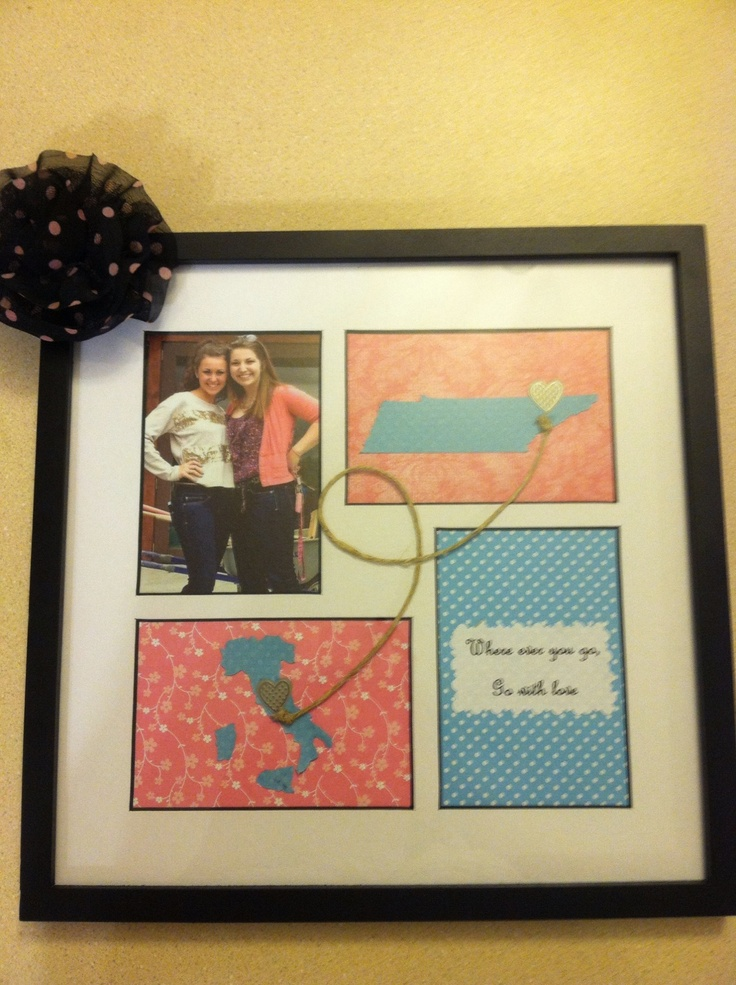 Cute Best Friend Frames Diy Anniversary Gift Map Wall Art