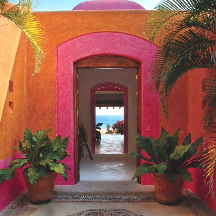 Jalisco, Mexico - gorgeous bright coloured walls and doorways