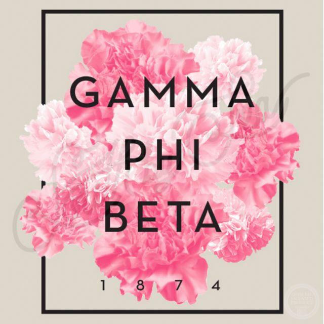 Gamma Phi Beta | G Phi B | Carnation Design | Recruitment | Bid Day | South by Sea | Greek Tee Shirts | Greek Tank Tops | Custom Apparel Design | Custom Greek Apparel | Sorority Tee Shirts | Sorority Tanks | Sorority Shirt Designs