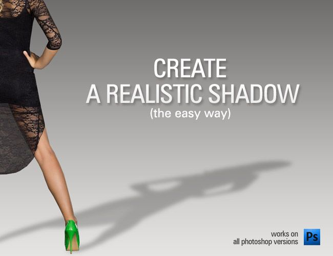 Easy realistic shadow in Photoshop