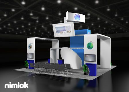 Nimlok specializes in trade show booths and technology exhibits. For IHS, we built a large-scale booth solution to showcase their brand.
