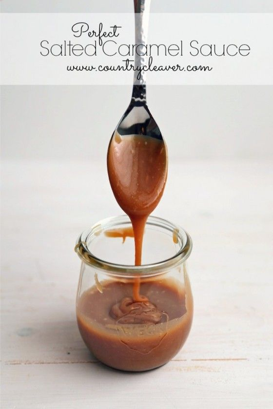 Perfect Salted Caramel Sauce - www.countrycleaver.com
