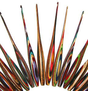 Hummingbird and Peacock Crochet Hooks - and custom handcrafted crochet hooks - made in Vermont by DyakCraft