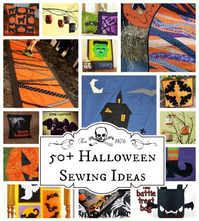 More than 50 free Halloween Sewing Ideas. From quick and easy projects to those needing more time, but totally worth it. See links for 100+ more ideas too