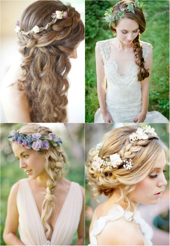 pretty flower weaved braided crown