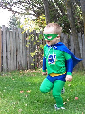 Super Why Halloween Costume.    #sewing, super why, halloween
