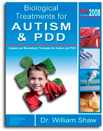 """""""Biological Treatments for Autism and PDD - can read some of it online. There is a link between autism, ADD, allergies, and asthma. What he says here about helping autism/PDD seems to also be effective for fixing C's gut and maybe addressing ADD."""" --Lucy"""