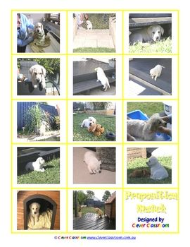 Preposition Match - PDF file2 page file.The photos represented in this game were taken of our puppy Cruz at 9 weeks old. He is now 5.5 year...: Classroom Ideas Gener, Clever Classroom, For Kids, File Th Photos, Language, Photos Representative, Matching Games Great, Education, Grammar