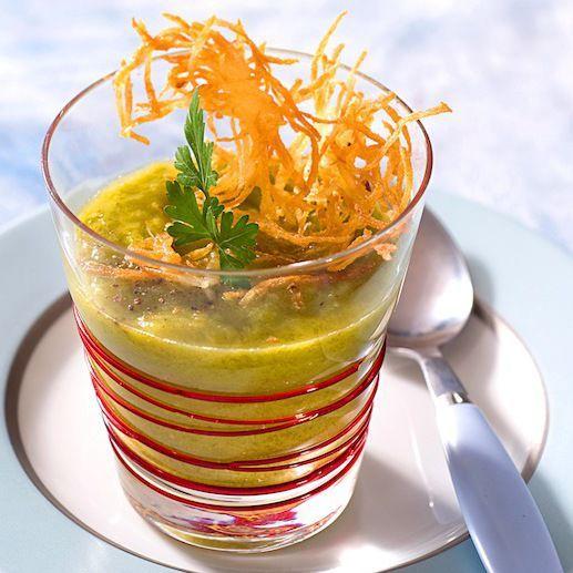 Découvrez la recette du velouté de poireaux au gingembre