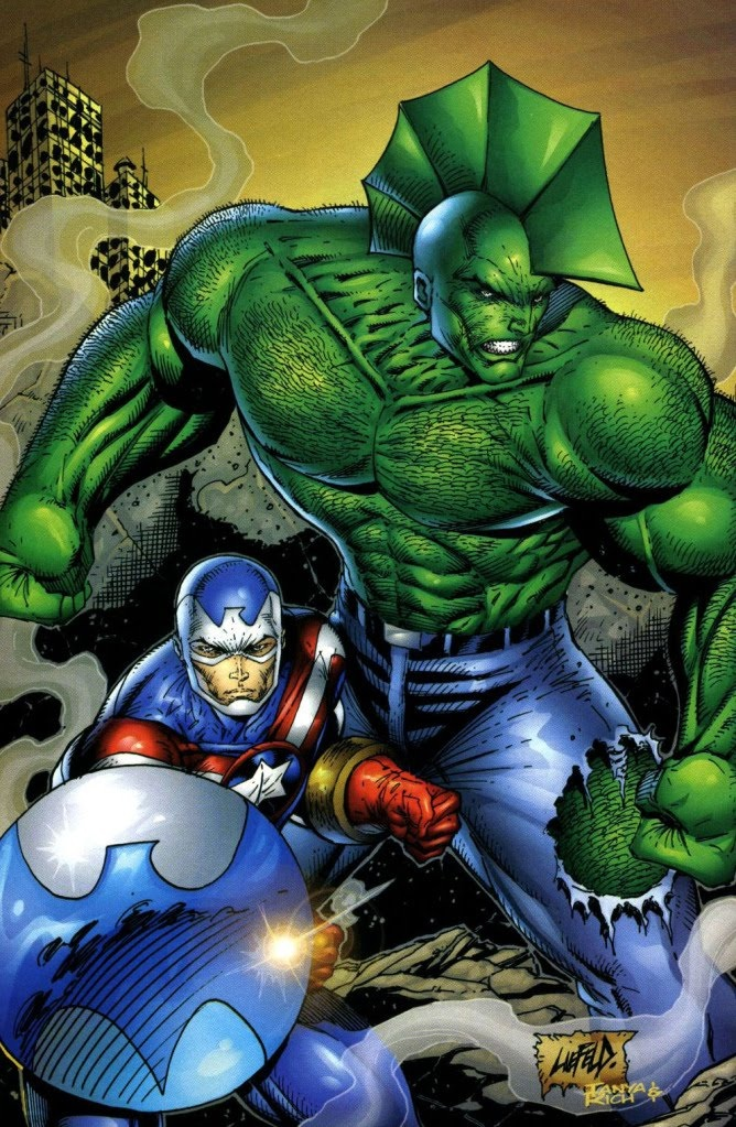 Fighting American and Savage Dragon by Liefeld